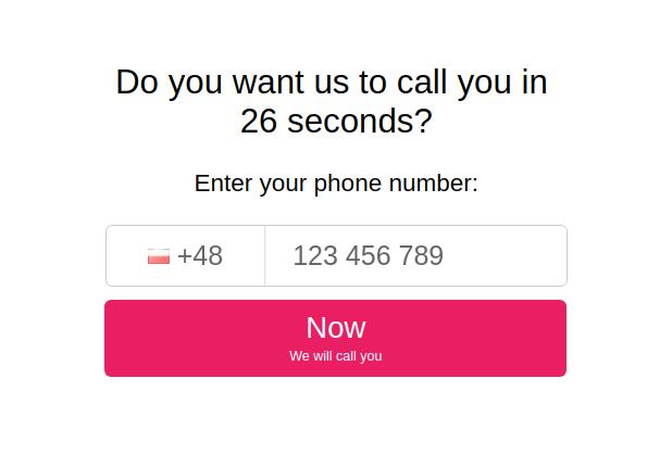 Oddzwonimy w 26 sekund